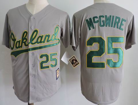 MLB Oakland Athletics #25 McGWIRE grey m&n jersey