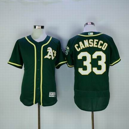 MLB Oakland Athletics #33 Jose Canseco green flexbase jersey