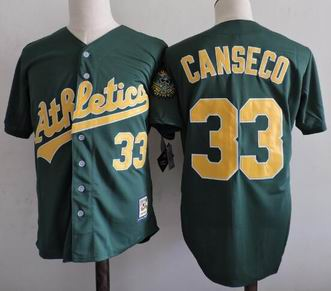 MLB Oakland Athletics #33 Jose Canseco green m&n jersey