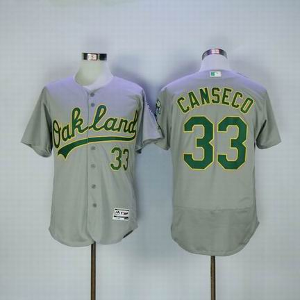 MLB Oakland Athletics #33 Jose Canseco grey flexbase jersey