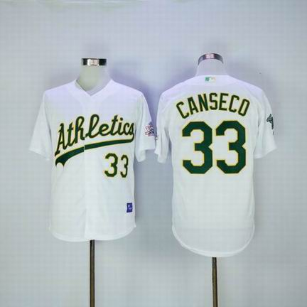 MLB Oakland Athletics #33 Jose Canseco white m&n jersey