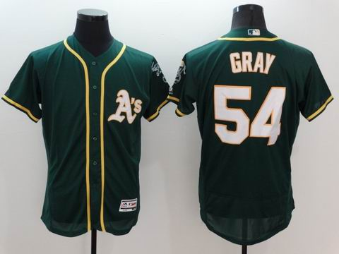MLB Oakland Athletics #54 Sonny Gray green jersey