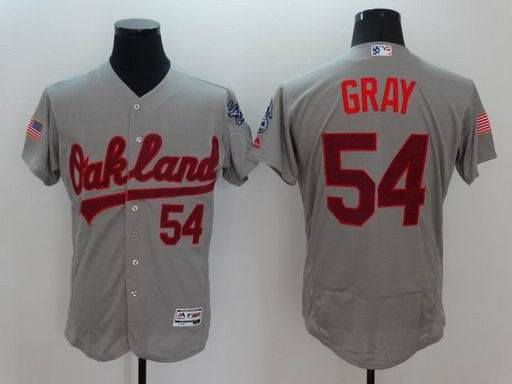 MLB Oakland Athletics #54 Sonny Gray grey flexbase jersey