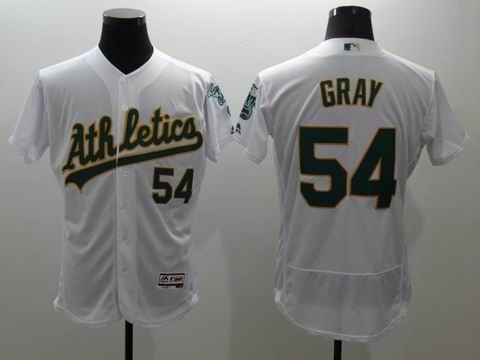MLB Oakland Athletics #54 Sonny Gray white jersey