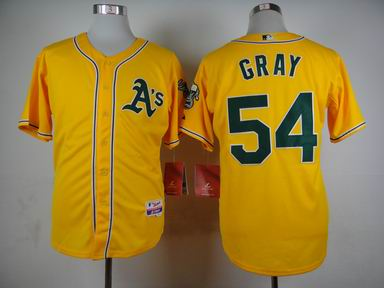 MLB Oakland Athletics 54 Gray yellow jersey