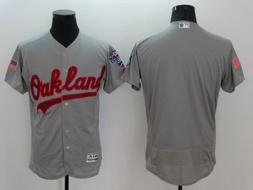 MLB Oakland Athletics blank grey flexbase jersey