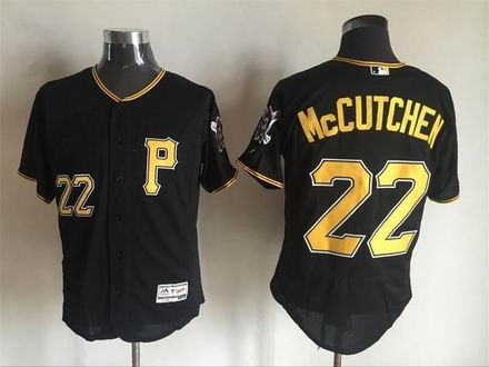 MLB Pittsburgh Pirates #22 Andrew McCUTCHEN black flex base jersey