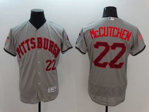 MLB Pittsburgh Pirates #22 Andrew McCUTCHEN grey flexbase jersey