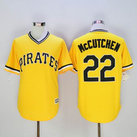 MLB Pittsburgh Pirates #22 Andrew McCUTCHEN yellow jersey