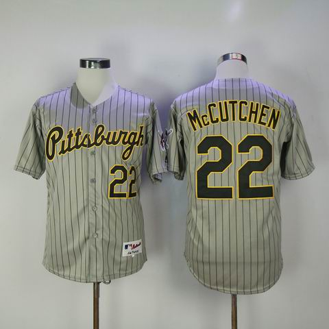 MLB Pittsburgh Pirates #22 McCUTCHEN grey jersey