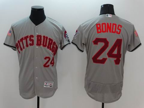 MLB Pittsburgh Pirates #24 Bonds grey flexbase jersey