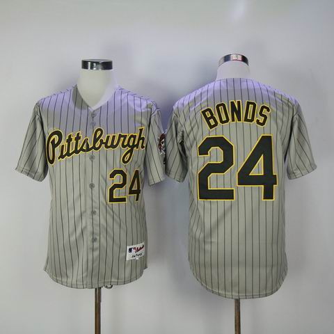 MLB Pittsburgh Pirates #24 Bonds grey jersey