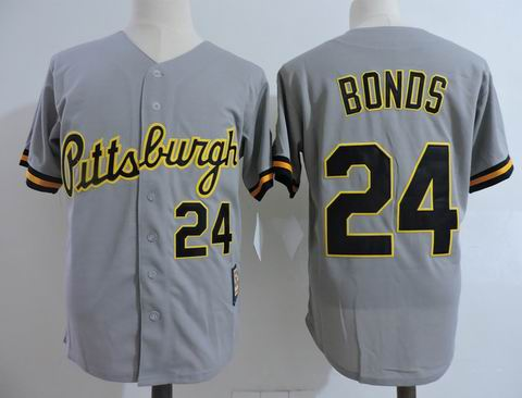 MLB Pittsburgh Pirates #24 Bonds grey m&n jersey