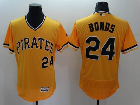 MLB Pittsburgh Pirates #24 Bonds yellow flexbase jersey