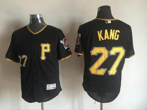 MLB Pittsburgh Pirates #27 Jung Ho Kang black flex base jersey