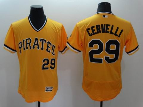 MLB Pittsburgh Pirates #29 Francisco Cervelli yellow flexbase jersey