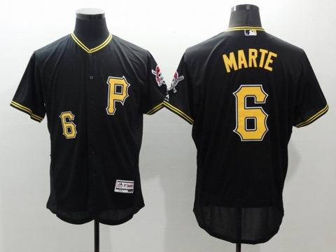 MLB Pittsburgh Pirates #6 Starling Marte black jersey