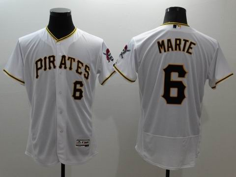 MLB Pittsburgh Pirates #6 Starling Marte white jersey