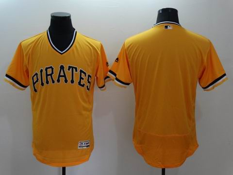 MLB Pittsburgh Pirates blank yellow flexbase jersey