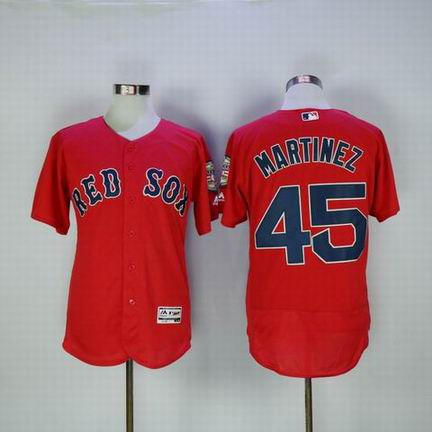 MLB Red Sox #45 Martinez red Jersey