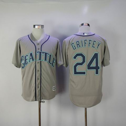 MLB Seattle Mariners #24 GRIFFEY grey jersey