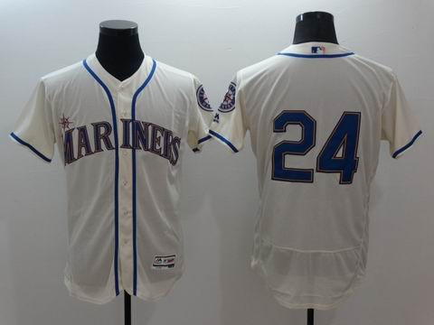 MLB Seattle Mariners #24 white flex base jersey