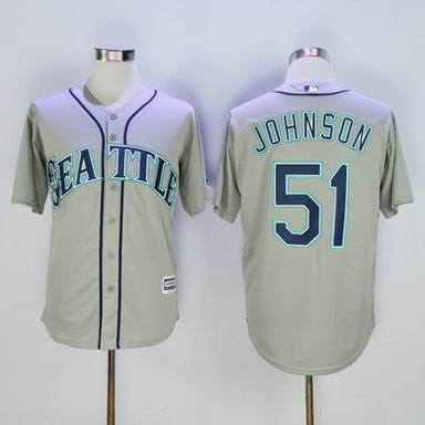 MLB Seattle Mariners #51 Randy Johnson gray jersey