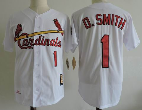 MLB St. Louis Cardinals #1 O.Smith white m&n jersey