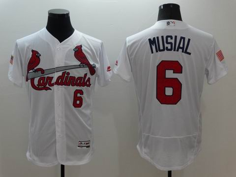MLB St.Louis Cardinals #6 Stan Musial white flexbase jersey