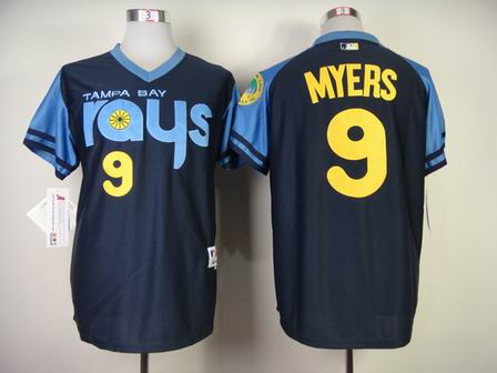 MLB Tampa Bay Rays 9 Myers blue jersey