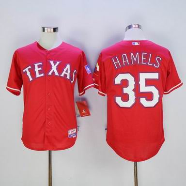 MLB Texas Rangers #35 Cole Hamels red jersey