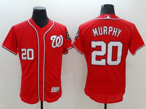 MLB Washington Nationals #20 Daniel Murphy red flexbase jersey