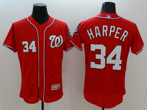 MLB Washington Nationals #34 Bryce Harper red jersey
