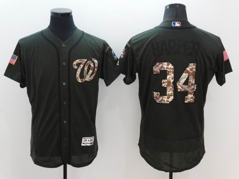 MLB Washington Nationals #34 green flex base jersey
