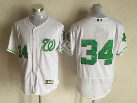 MLB Washington Nationals #34 white flex base jersey