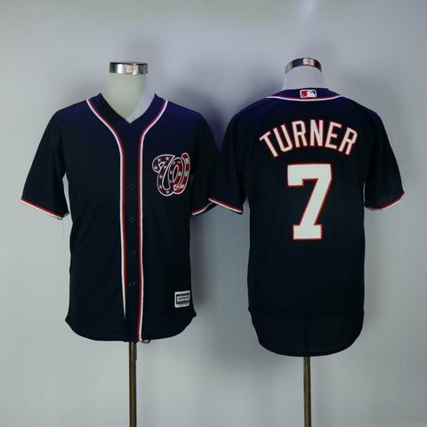 MLB Washington Nationals #7 Turner blue jersey