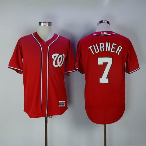 MLB Washington Nationals #7 Turner red jersey