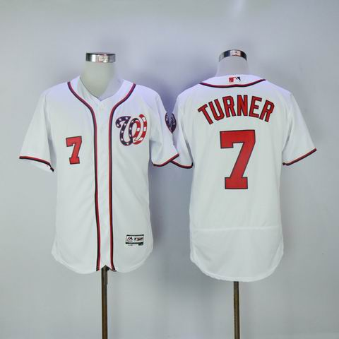 MLB Washington Nationals #7 Turner white flexbase jersey