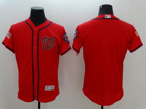 MLB Washington Nationals blank red flexbase jersey