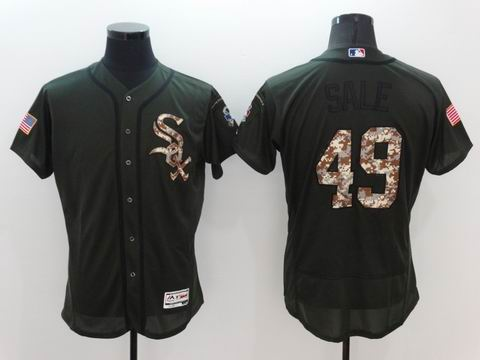 MLB White Sox #49 Chris Sale green Olive Salute To Service Jersey