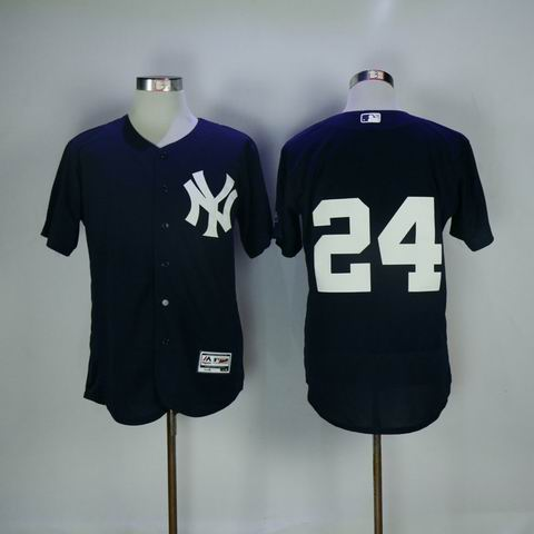 MLB Yankees #24 Sanchez blue flexbase jersey