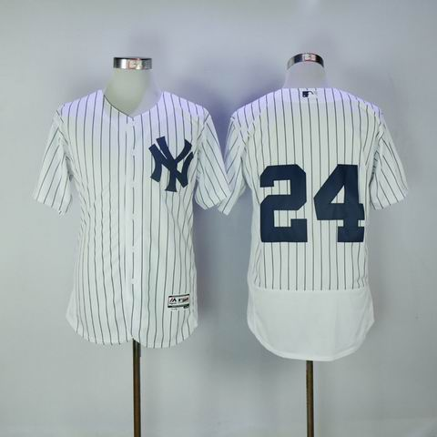 MLB Yankees #24 Sanchez white flexbase jersey