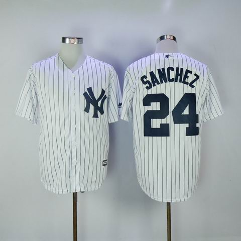 MLB Yankees #24 Sanchez white jersey