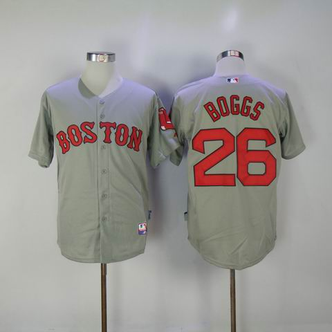 MLB boston Redsox #26 Boggs grey jersey