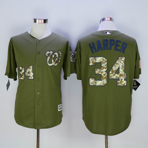 MLB nationals #34 Harper green jersey
