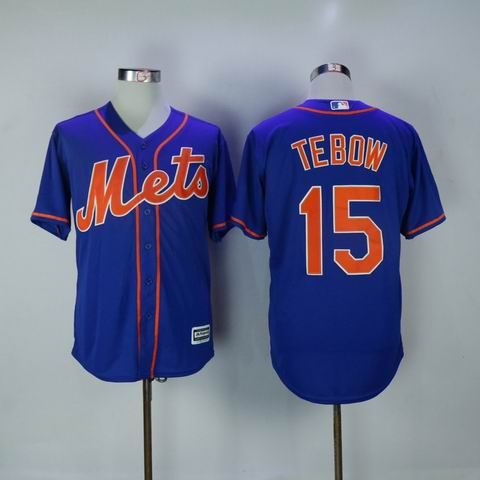 MLB new york mets #15 Tebow blue jersey