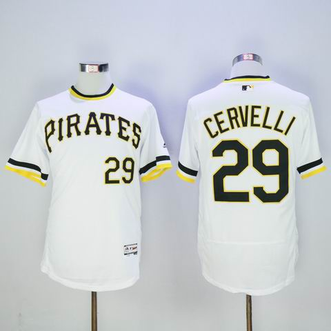 MLB pittsburgh steelers #29 Francisco Cervelli white flexbase jersey