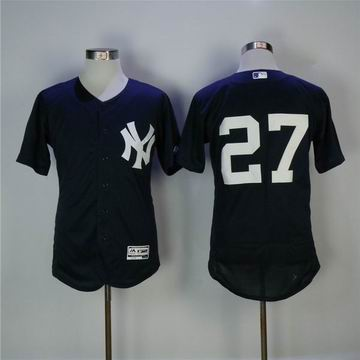 MLB yankees #27 Stanton blue flexbase jersey