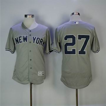 MLB yankees #27 Stanton grey flexbase jersey