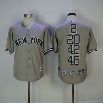 MLB yankees mix honer grey jersey
